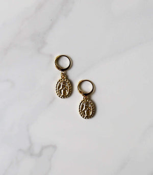 Mother Mary - Drop Earring - earrings - monday merchant