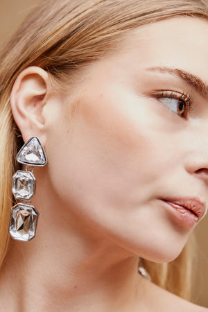Neave Drop Earrings - Silver - earrings - monday merchant
