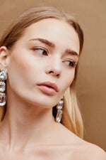 Neave Drop Earrings - Silver