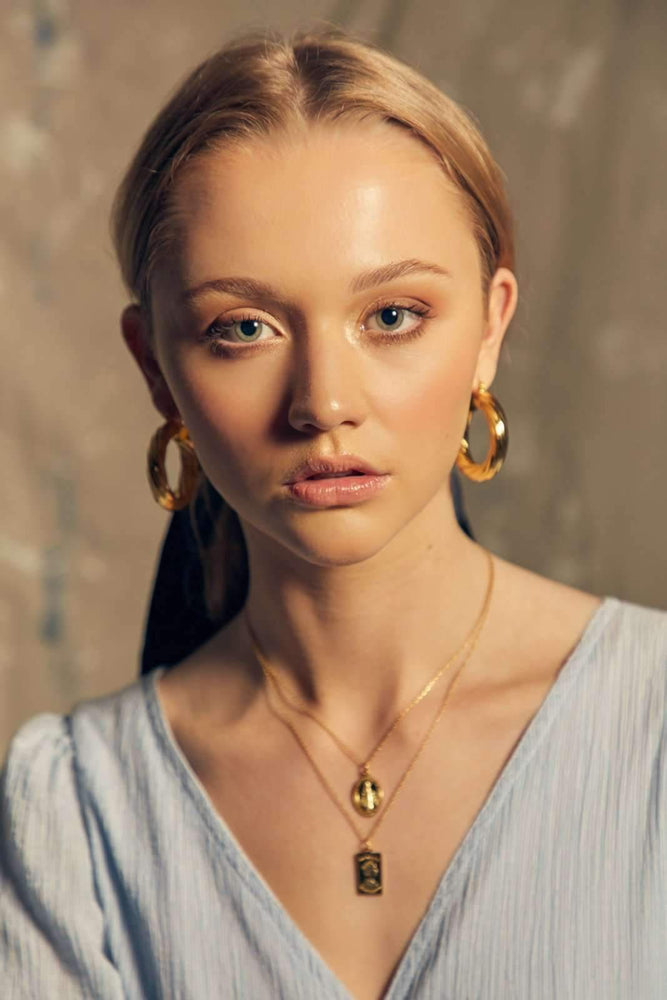 Paigey Hoop - Gold - earrings - monday merchant