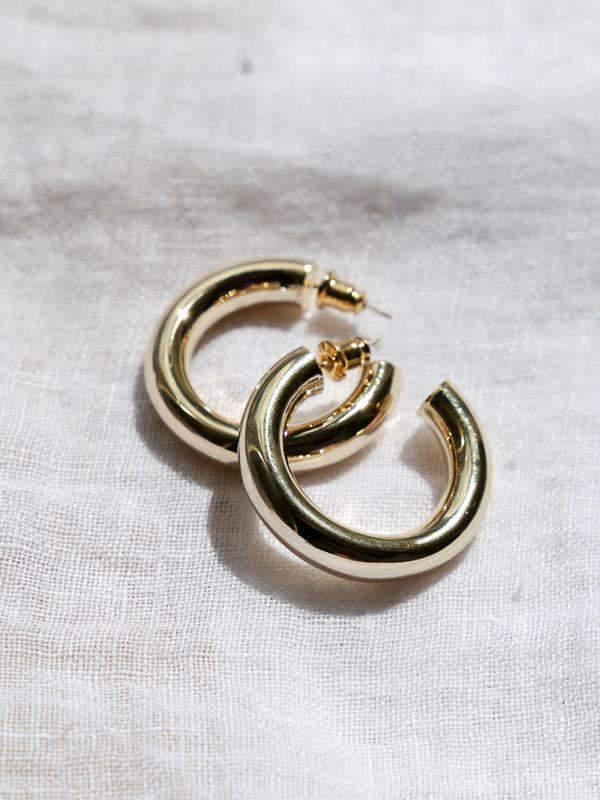 Pars Essential Hoop - Gold / Silver - earrings - monday merchant