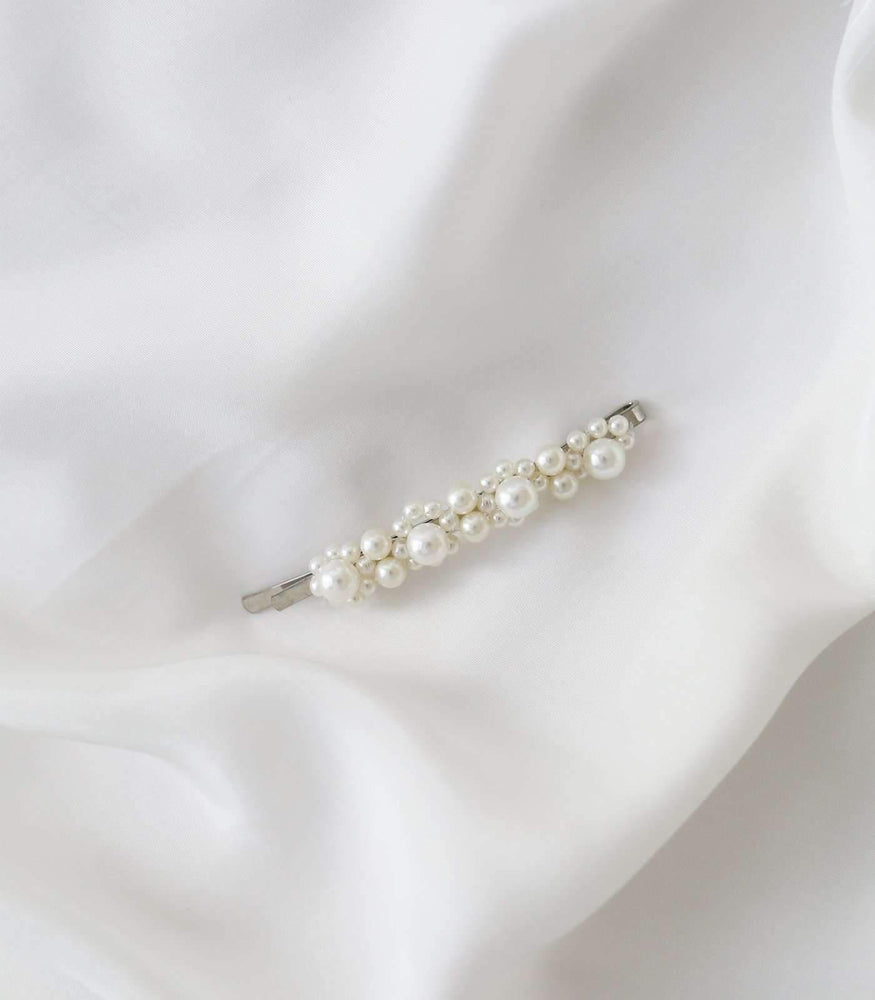 Roma Slide Clip - Pearl / Silver - Hair Clips - monday merchant