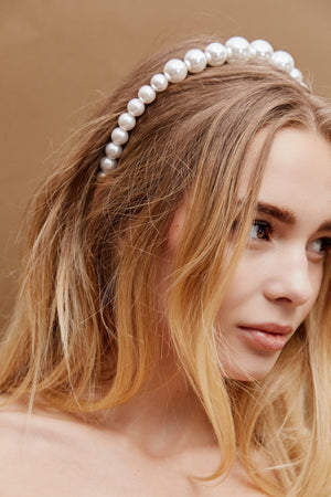 Rumi Pearl Headband - Hair Clips - monday merchant