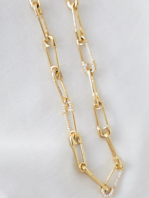 Safety Chain - Necklace - Gold - necklace - monday merchant