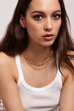 Safety Chain - Necklace - Gold