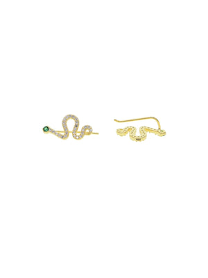 Snake Eyes Climbers (Pre-Order) - earrings - monday merchant