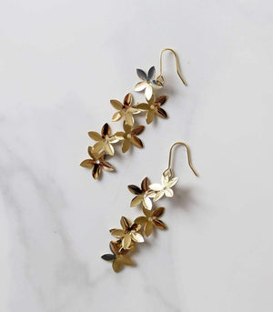 Starflower Drop Earring - Gold - earrings - monday merchant