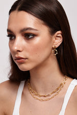 Starry Night Drop Earrings - Gold