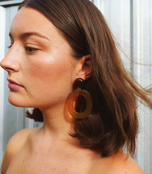 Tasman Earring - Tort - earrings - monday merchant