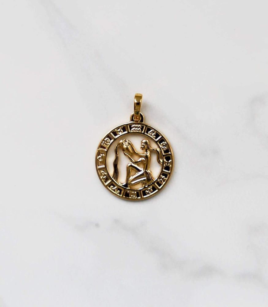 Zodiac Necklace - Gold - necklace - monday merchant
