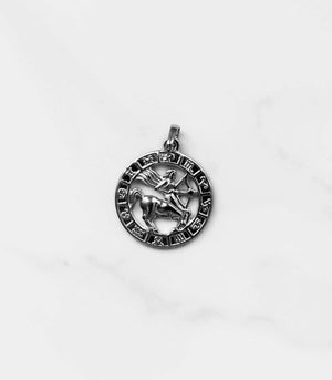 Zodiac Necklace - Silver - necklace - monday merchant
