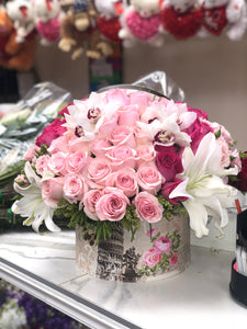 Wonderful box of mix pinks and whites