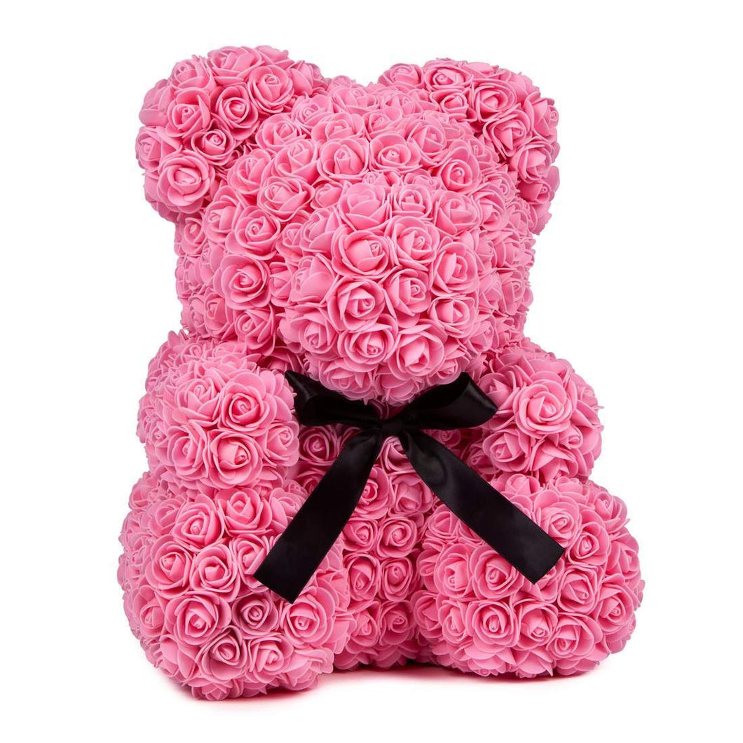 Medium Pink Rose Bear