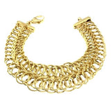 14K Yellow Gold Double Circle Link Bracelet
