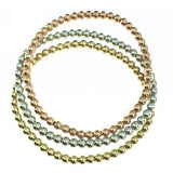 14K Gold Colorful Beads Plain Bracelet