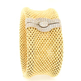 "14K Yellow Gold Diamond Soft Mesh 1 1/4"" Bracelet"