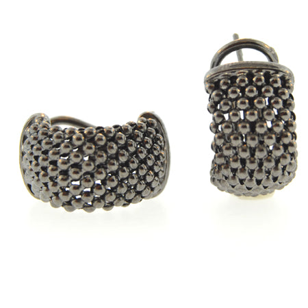 14K Black Rhodium Gold Soft Mesh Earring