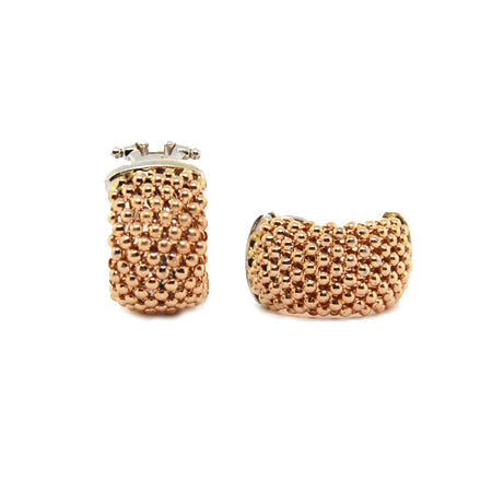 14K Rose Gold Soft Mesh Earring