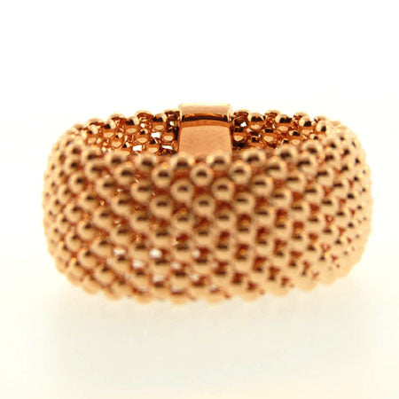 14K Soft Mesh Rose Gold Ring
