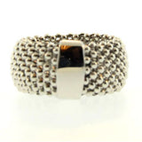 14K Soft Mesh White Gold Ring