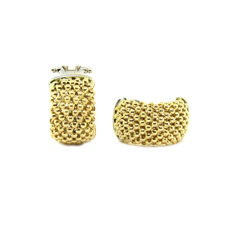 14K Yellow Gold Soft Mesh Earring
