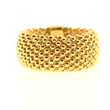 14 K Soft Mesh Yellow Gold Ring