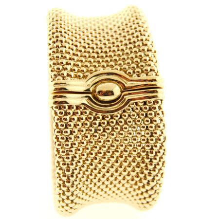 14k Soft Mesh 1 1/4 '' yellow gold bracelet