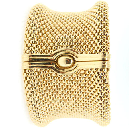 "14K Yellow Gold Soft Mesh 1 ½"" Bangle"
