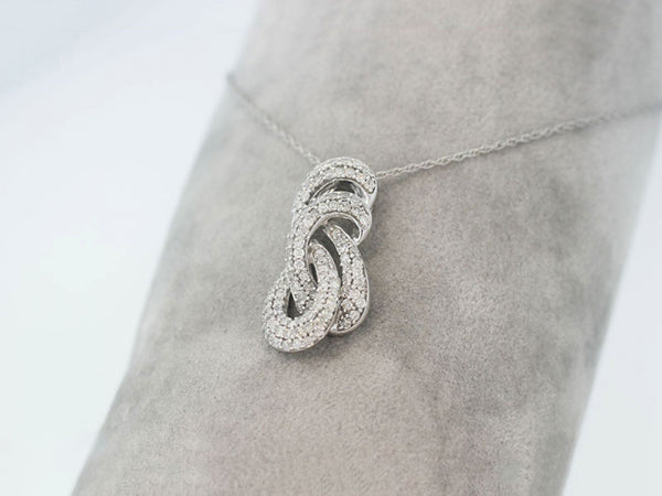 14k White Gold 1.00ctw. Diamond Pendant