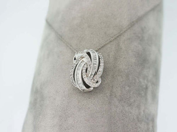 14k White Gold 0.50ctw. Diamond Pendant