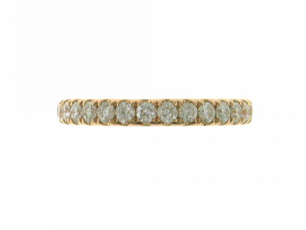 18ky Diamond 0.62 Half Way Ring Band