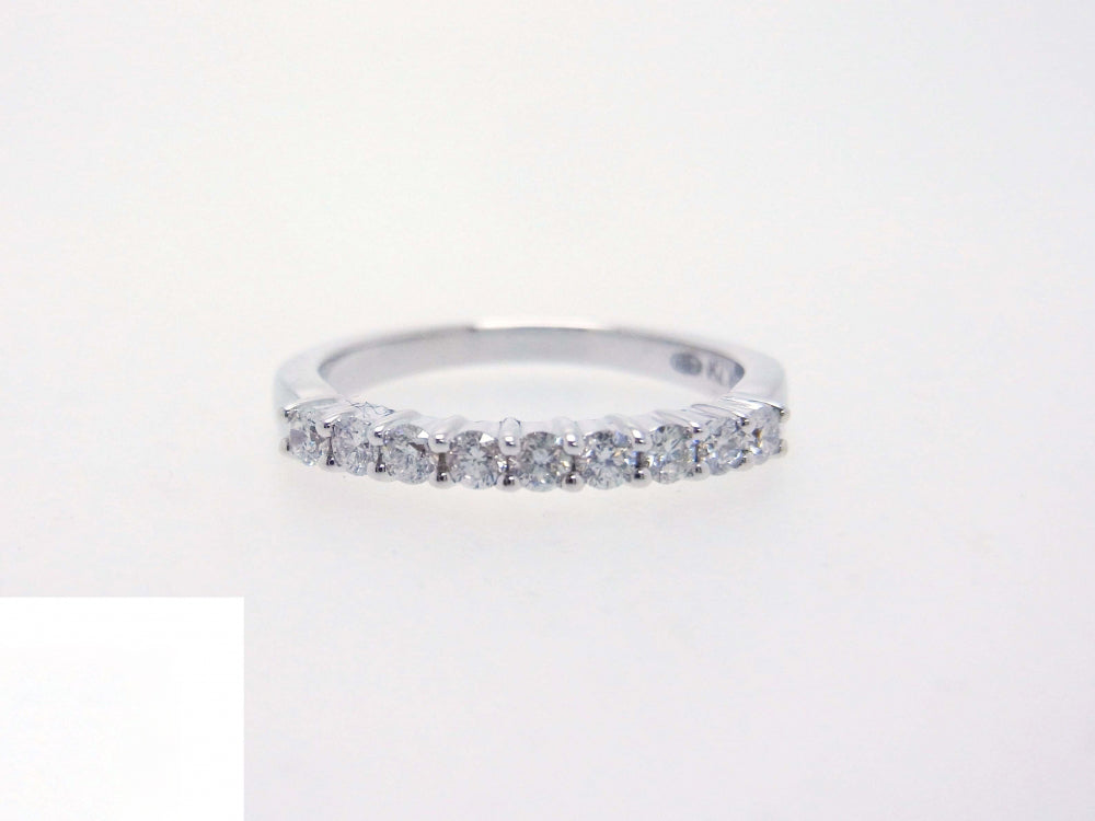 18kw Diamond 0.31 Half Way Ring Band