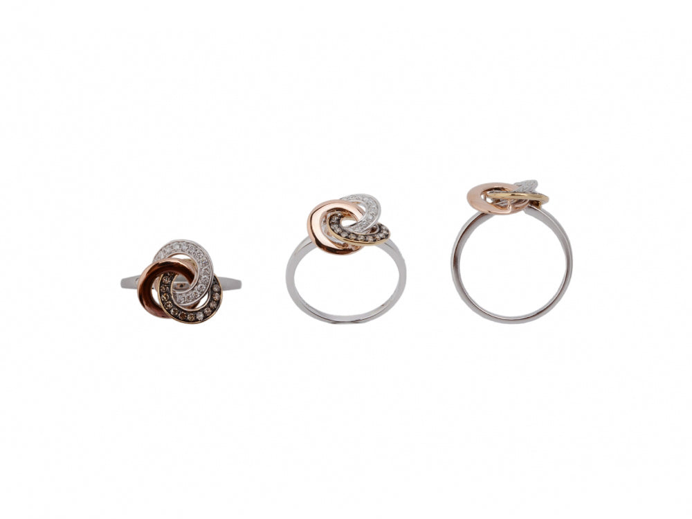 14kwry Diamond 0.12 Brown Diamond 0.15 Ring