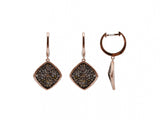 14K Rose Gold Diamond Earrings 0.90ctw