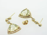 14K Yellow Gold Diamond Earrings 7.05ctw