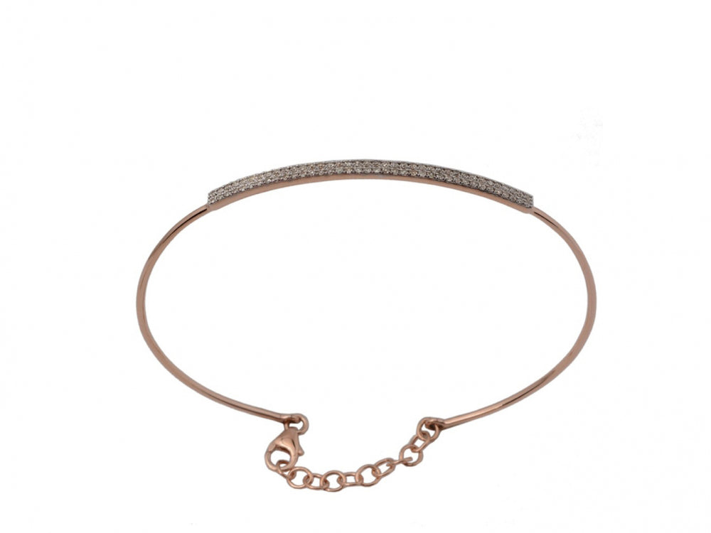14kr Diamond 0.32 Bar Bangle
