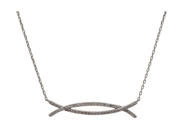 14k White Gold 0.27ctw. Diamond Necklace