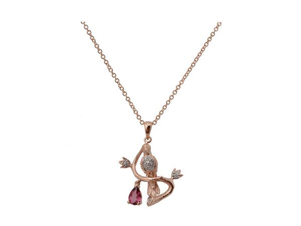 14k Rose Gold 0.75ctw. Diamond Pendant With Chain