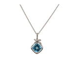 14k White Gold 3.00ctw. Diamond Pendant With Chain