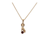 14k Yellow Gold 0.43ctw. Diamond Pendant With Chain