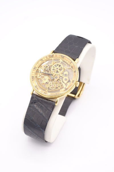 18K Yellow Gold Handmade IWC Skeleton Watch
