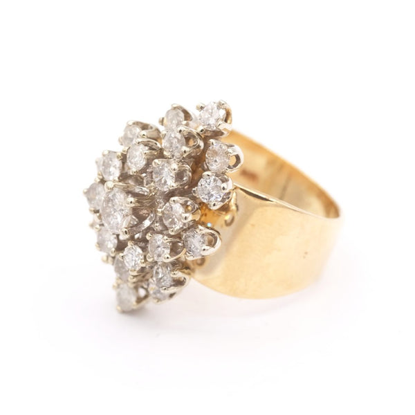 14 ky Gold Diamond Dazzling Cluster Ring