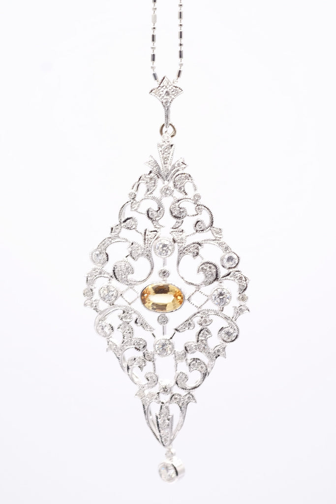 diamond platinum cut fine necklace antique diamonds old index pendant drury e