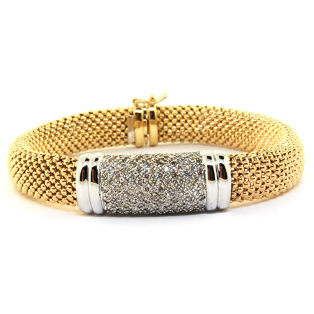 14K Yellow Gold Diamond Accent Bracelet
