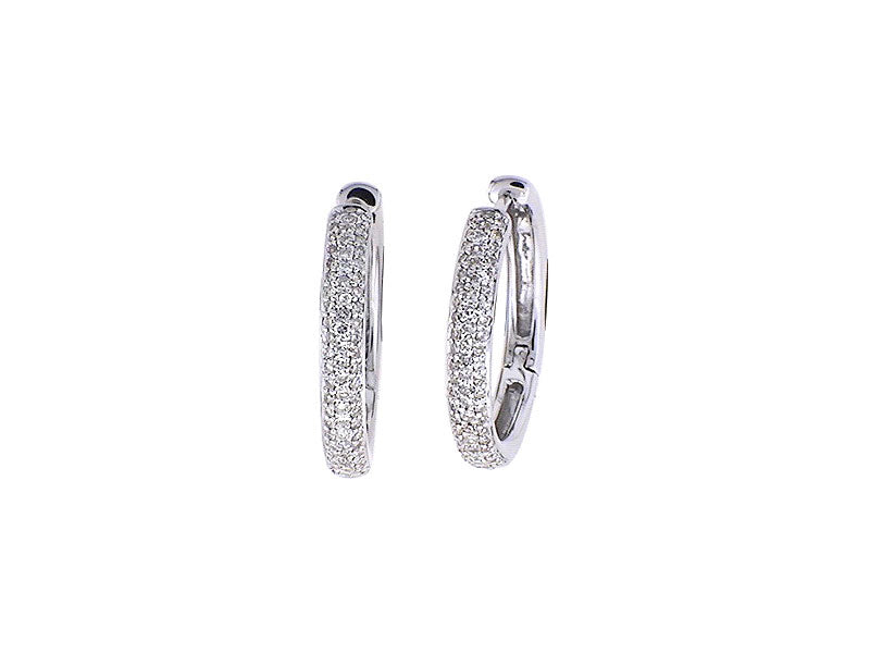 14K White Gold Diamond Earrings 0.80ctw.