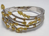 18k White Diamond Bangle 7.35ctw.