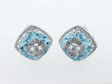 14K White Gold Diamond Earrings 20.31ctw