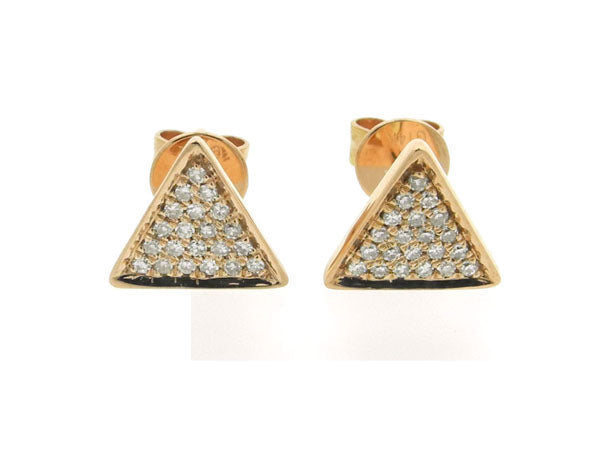18ky Diamond 0.09 Triangle Earring