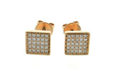 18kr Diamond 0.09 Square Shape Earring