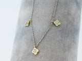 14k Gold Two Tone 0.25ctw. Diamond Necklace